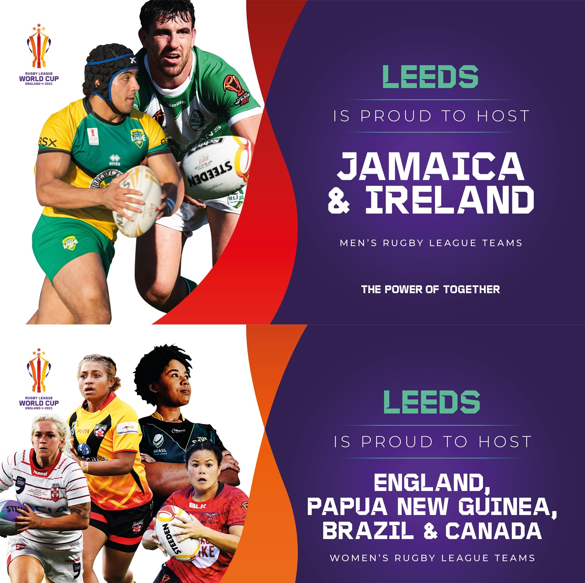 Rugby League World Cup - Leeds hosting teams