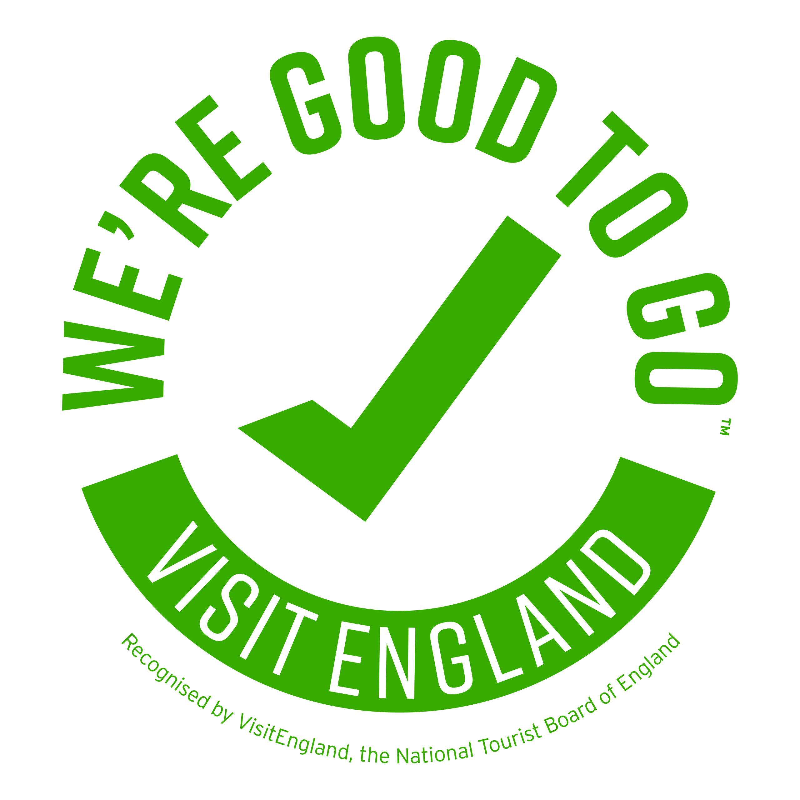 The logo for Visit England's We're Good To Go standard