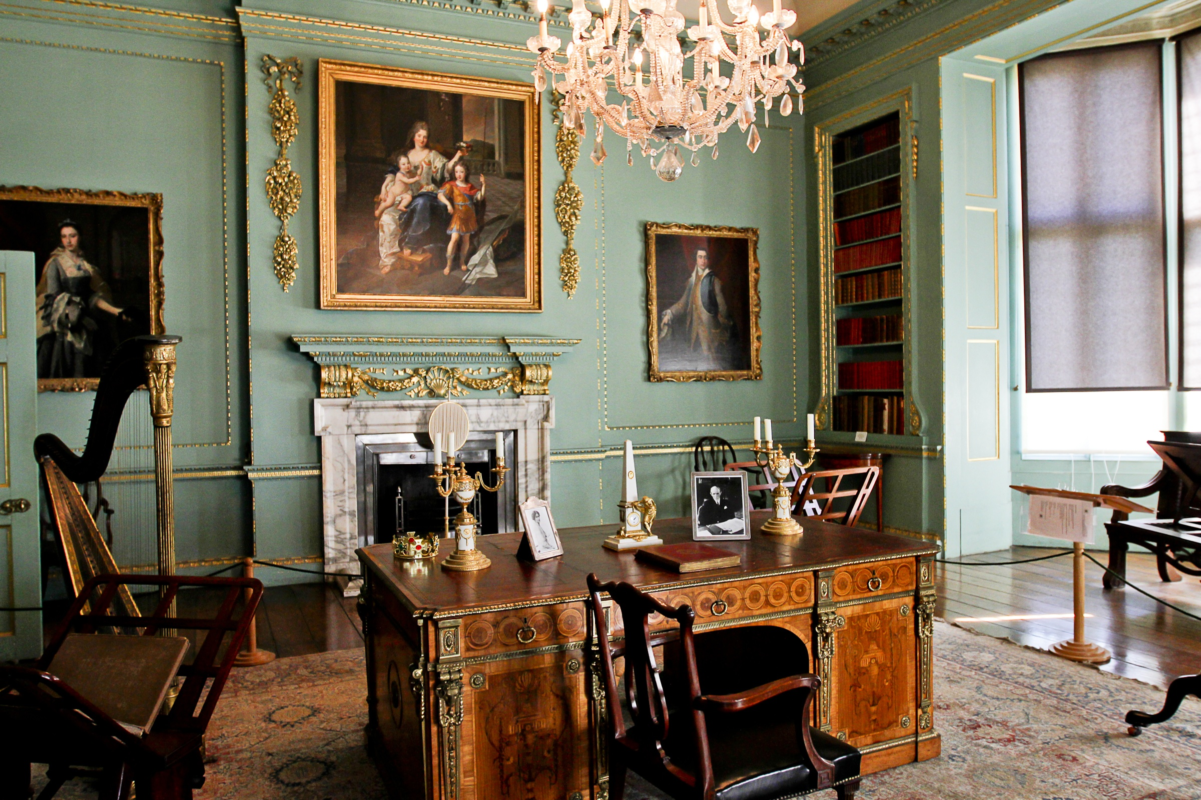 The ornate room at Temple Newsam - credit Leeds City Council