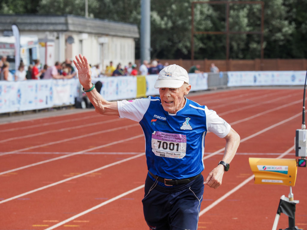 A runner at the Westfield Health British Transplant Games - credit Richard Hall