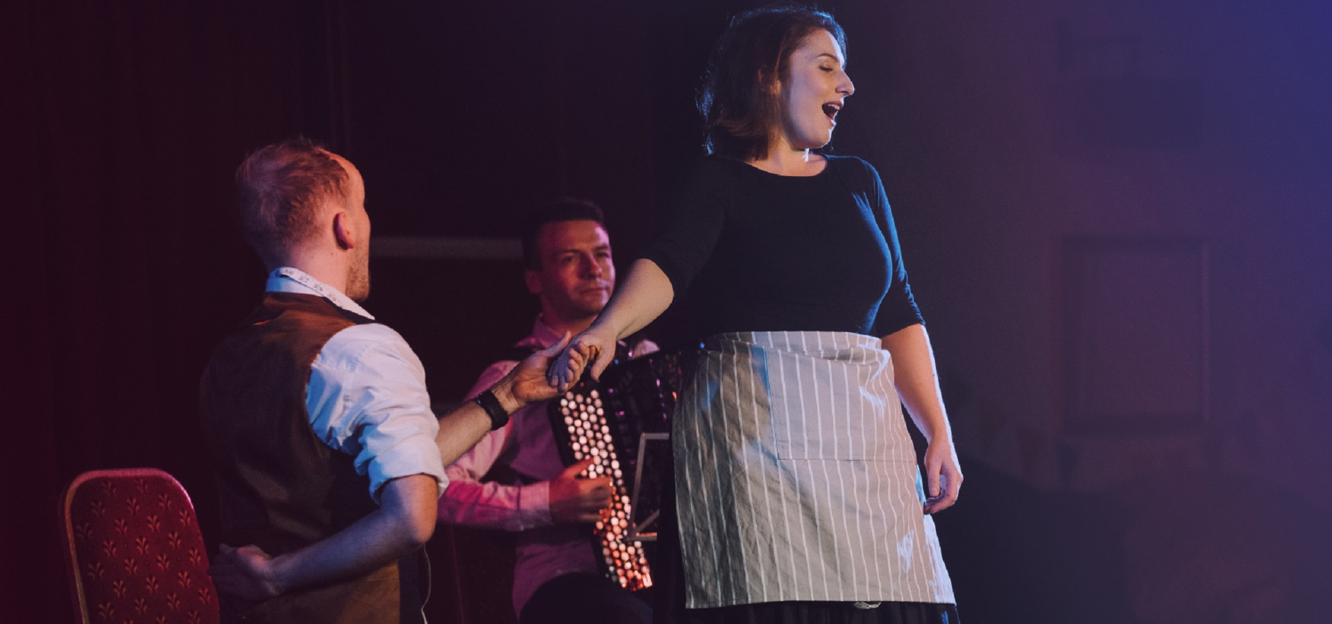 Performers in Opera North's Whistle Stop Opera - credit Tom Arber