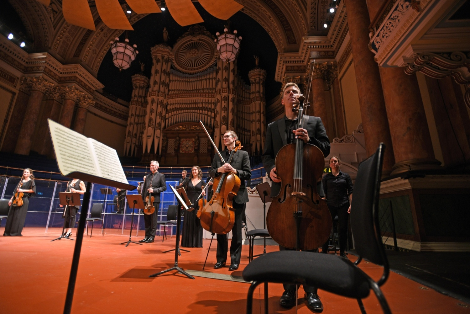 Orchestra of Opera North Performing first live concert after lockdown, credit Guzelian