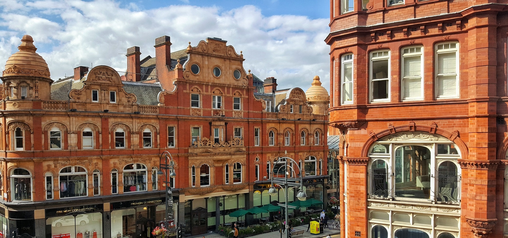 Victoria Quarter architecture in the sunshine - credit Visit Leeds