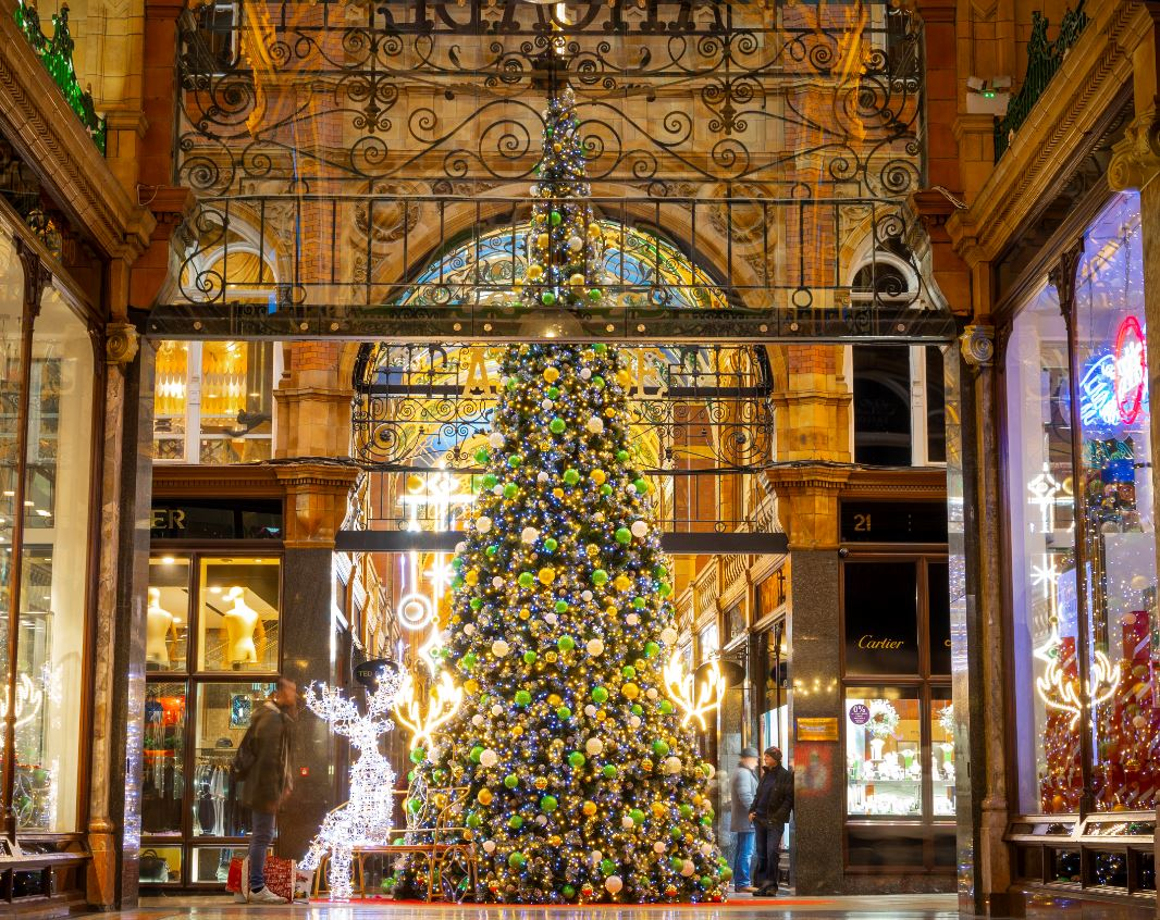 The Christmas tree in the Victoria Quarter, Leeds - credit Carl Milner Photography