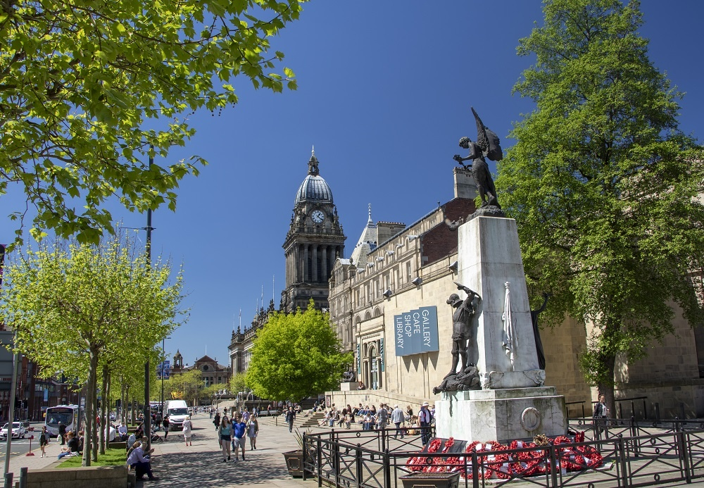 A view of Leeds Town Hall and the Cenotaph - credit Carl Milner