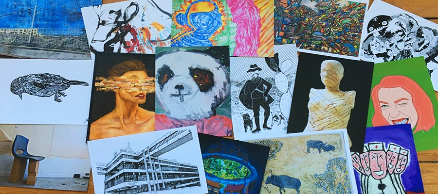 Aire Place Studios Postcards Exhibition is Online and In Your Homes