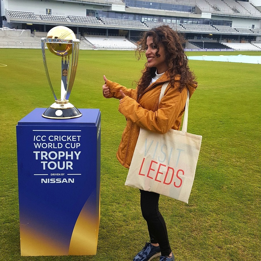 Veronica Jose, India's Biggest Cricket Fan - Emerald Headingley Stadium -